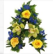 Buy Letters Funeral Flower from flowers 4 funeral