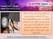 Sleep well with Sleeping Tablets