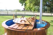 Plastic outdoor hot tubs and fiberglass tubs