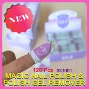 Nail Art Soak Off Acrylic Shellac Acetone Gel Polish Remover Wraps