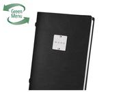ECO Black 4RE 2/3RD A4 Portrait Menu Covers & Folders