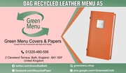 DAG RECYCLED LEATHER MENU A5